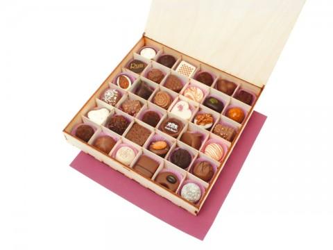Thirty-six chocolates